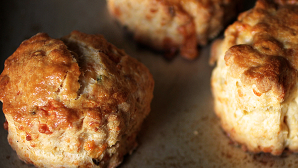 Jalapeno-cheddar Scones Recipe — Dishmaps