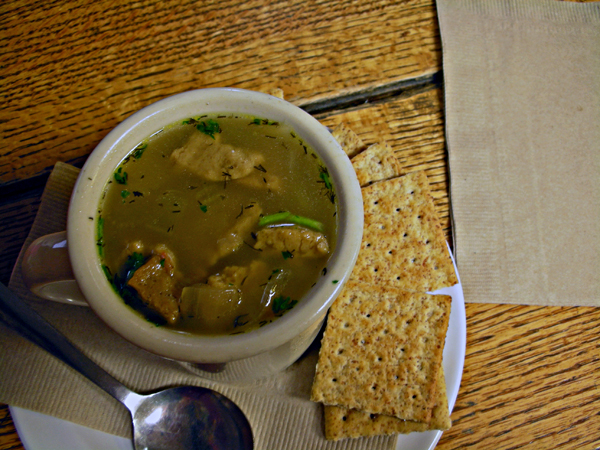 Post image for AVERY'S BLOOMINGTON BITES – SEITAN NOODLE SOUP