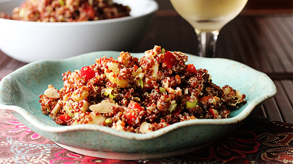 Post image for RED QUINOA SALAD WITH CITRUS-CURRY DRESSING