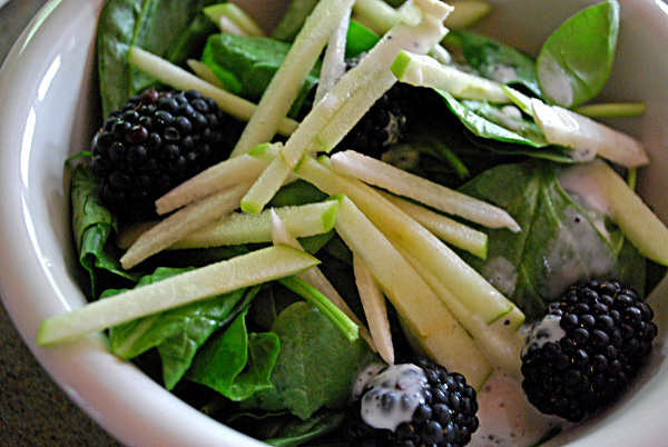 Blackberry, Jicama & Apple Salad