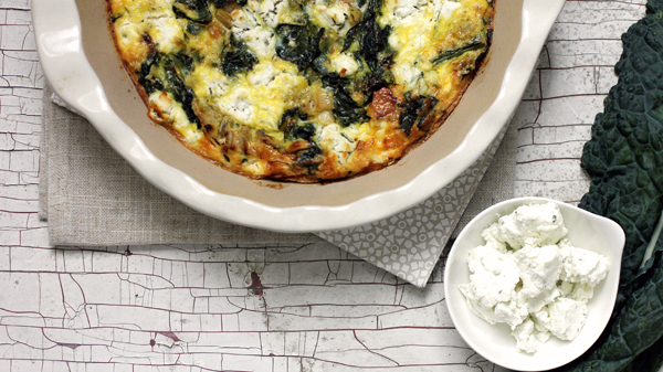 Post image for BLOOMINGTON BITES: CRUSTLESS LEEK & KALE QUICHE