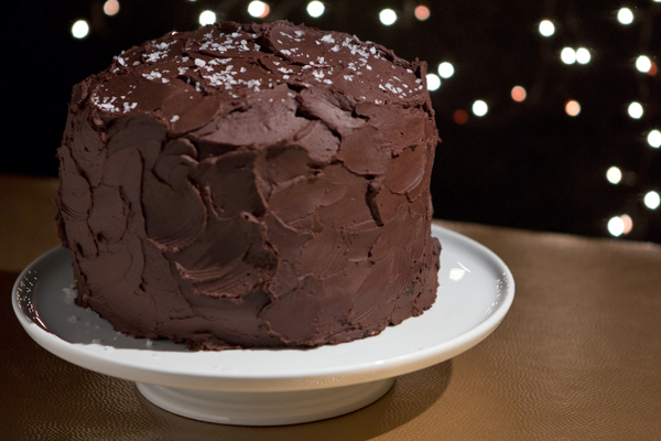 Post image for SALTED-CARAMEL SIX-LAYER CHOCOLATE CAKE