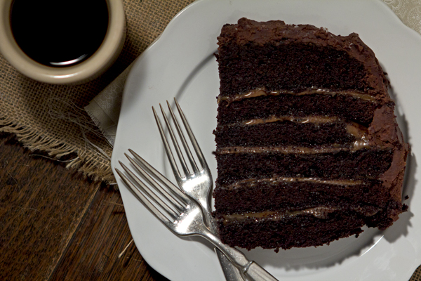 SALTED-CARAMEL SIX-LAYER CHOCOLATE CAKE | Smith Bites