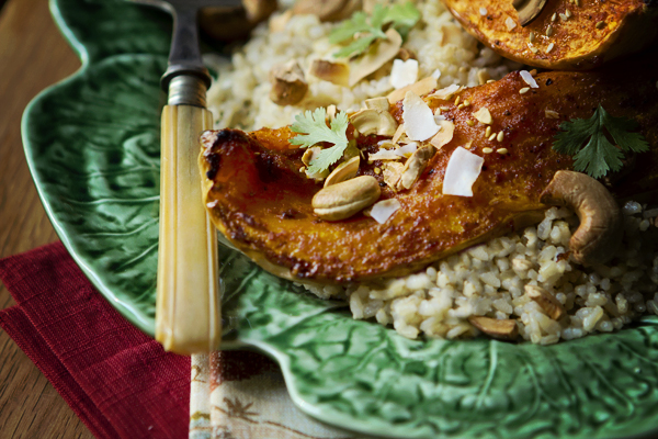 RED CURRY GLAZED BUTTERNUT SQUASH WITH COCONUT RICE   Smith Bites