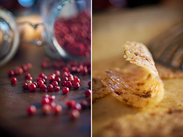 PARMESAN-PINK PEPPERCORN CRISPS | Smith Bites
