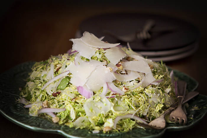 Post image for SHAVED BRUSSELS SPROUTS SALAD W/BROWN BUTTER VINAIGRETTE