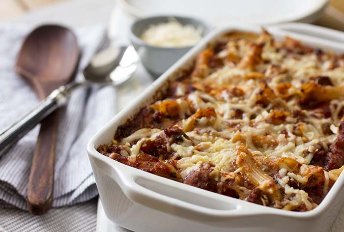 Post image for GLUTEN-FREE BAKED PENNE WITH SPICY SAUSAGE