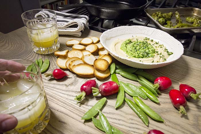 Post image for LEMON TWIST HUMMUS WITH SPRING PEA PESTO & GREMOLATA