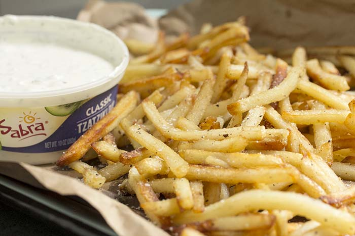 Post image for EASY DUCK FRITES WITH TZATZIKI CLASSIC DIPPING SAUCE
